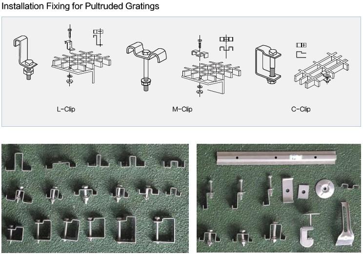fiberglass grating fixing
