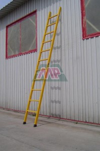 wall support straight ladder