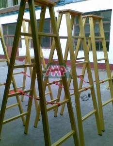 fiberglass two side ladder