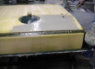 fiberglass fish tank hand lay-up